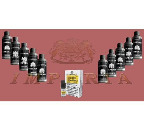 Báze IMPERIA 100ml PG50/VG50 0mg 10ks + Booster IMPERIA 10x10ml PG50-VG50 20mg - AKCE